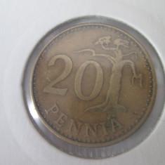 Finlanda 20 pennia 1963, Europa, An: 1967, Bronz-Aluminiu
