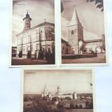 BUCOVINA -MANASTIREA DRAGOMIRNA-LOT DE 3 IMAGINI DIN PLIANT SUVENIR ANII 40 - Carte postala tematica, Necirculata, Printata