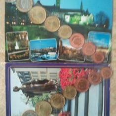 Lot doua seturi de monede euro Luxemburg necirculate, 200 roni, taxe postale zero, Europa