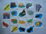 18 Carti de joc cu instrumente muzicale, de la joc romanesc vechi