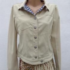 Geaca bej Armani Jeans 100% originala - Geaca dama Armani, Marime: M, Bumbac