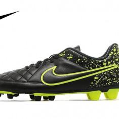 Ghete de fotbal Nike Tiempo Rio II - Ghete fotbal Nike, Marime: 41, 42, 43, Culoare: Negru, Barbati
