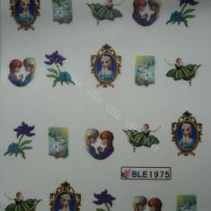 Tatuaj transfer pe baza de apa sticker pentru unghii Printese Frozen BLE 1975