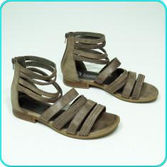 DE CALITATE _ Sandale MODERNE, din piele, aerisite, comode, BAMA _ femei | nr 38 - Sandale dama, Culoare: Maro, Piele naturala