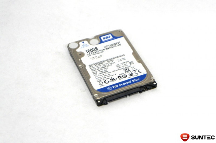 HDD Laptop 2.5inch SATA II 160GB 5400rpm 8MB cache Western Digital WD1600BEVT-00A23T0 foto mare