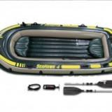 Barca gonflabila pentru patru persoane + accesorii Intex 68351 - Barca Pescuit