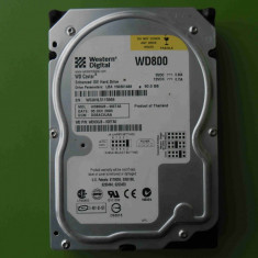Hard Disk HDD 80GB Western Digital WD800JB ATA IDE, 40-99 GB, Rotatii: 5400, 2 MB