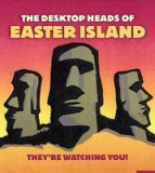 The Desktop Heads of Easter Island: They're Watching You! [With 4 Miniature Stone Head Replicas and Paperback Book]