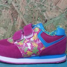 Adidas Super Gear roz cu floricele, 24.25.29 - Adidasi copii, Culoare: Fuchsia, Fete, Textil