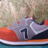 Adidas Super Gear portocaliu cu gri, marimi de la 24 la 29 - Adidasi copii, Marime: 25, 26, 27, 28, Culoare: Din imagine, Baieti, Textil