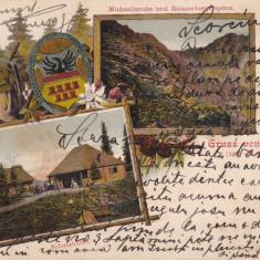 NEGOI, SALUTARI DIN NEGOI, GRUSS VOM NEGOI, CIRC. 1905, ED.JOS. DROTLEFF SIBIU - Carte Postala Transilvania pana la 1904, Circulata, Printata