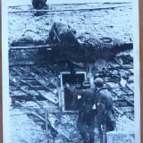 Post de observatie german de pe frontul de est, fotografie originala din razboi - Fotografie veche
