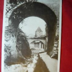 Ilustrata Orasul Stalin ( Brasov) - Vedere, circulat 1956 - Carte Postala Transilvania dupa 1918, Circulata, Printata