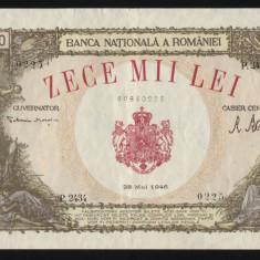 X332 10000 LEI 28 MAI 1946 CIRCULATA XF - Bancnota romaneasca