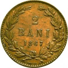 OKAZIE!!! 2 BANI 1867 HEATON . MULTIPLE EXFOLIERI PE AVERS . - Moneda Romania, Cupru (arama)