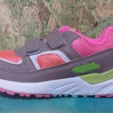 Adidas gri cu roz Super Gear, marimi 30 ,31,32,34