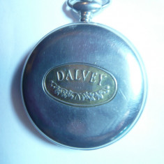 Ceas mecanic de buzunar Dalvey Scotland ,mecanism la vedere prin cadran