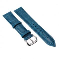 Curea ceas albastra 20mm curea albastra curea 22 mm - Curea ceas piele