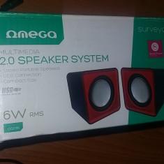 BOXE OMEGA, MULTIMEDIA 2.0 SPEAKER SYSTEM 6W RMS, STEREO . - Boxe PC
