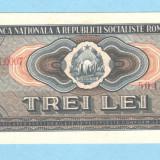 3 lei 1966 aUNC - Bancnota romaneasca