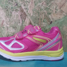 Adidas Super Gear de fete roz cu galben, 27.28 - Adidasi copii, Culoare: Fuchsia, Textil