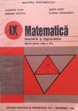 MATEMATICA GEOMETRIE SI TRIGONOMETRIE Manual pentru clasa a IX-a - Augustin Cota