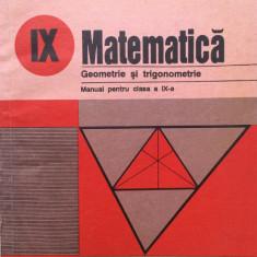 MATEMATICA GEOMETRIE SI TRIGONOMETRIE Manual pentru clasa a IX-a - Augustin Cota, Alta editura