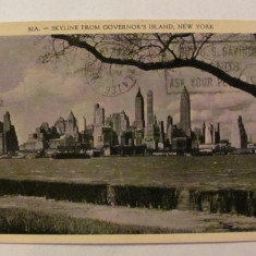 "CY - Ilustrata NEW YORK SUA / USA ""Governor's Island"" circulata 1937"