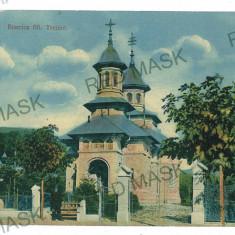 1050 - Prahova, AZUGA, Church - old postcard - unused - Carte Postala Muntenia 1904-1918, Necirculata, Printata