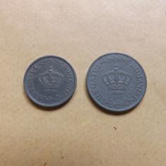 Romania Lot monede : 2 Lei 1941 + 5 lei 1942 - Moneda Romania, Zinc