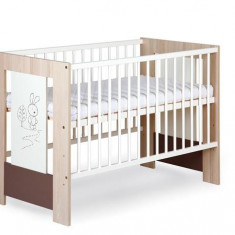Patuturi Copii Din Lemn Klups Little Bunny Capuccino - Patut lemn pentru bebelusi Klups, 120x60cm, Crem