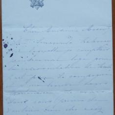 Scrisoare olografa a lui Zoe Mavrocordat Sturdza, sotia Princip. Mihail Sturdza - Autograf
