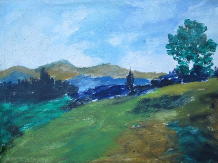 Peisaj ,  pictura veche in ulei
