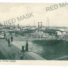 1958 - GALATI, harbor - old postcard - unused - Carte Postala Moldova 1904-1918, Necirculata, Printata