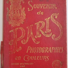 SOUVENIR DE PARIS. PHOTOGRAPHIES EN COULEURS. NOTICE IN ENGLISH AND FRENCH - Harta Europei