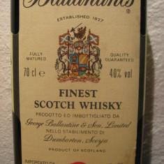 Whisky ballantines, finest, scotch whisky cl.70 gr.40 ani 70