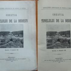 Chestia tunelului de la Beresti , 1909 , cu 4 profiluri si grafice