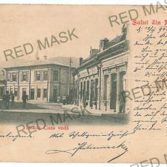1930 - Litho, PIATRA NEAMT, Cuza-Voda street- old postcard - used - 1902 - Carte Postala Moldova pana la 1904, Circulata, Printata
