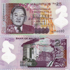 MAURITIUS 25 rupees 2013 polymer UNC!!!