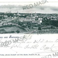 1013 - L i t h o, Bukowina, SUCEAVA - old postcard - used - 1902 - Carte Postala Bucovina pana la 1904, Circulata, Printata