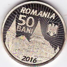 50 bani 2016 comemorativ Iancu de Hunedoara si castelul huniazilor UNC (1) foto