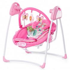Leagan Electric Si Balansoar Chipolino Paradise Pink - Set mobila copii