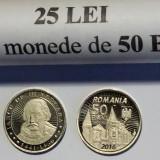 ROMANIA 50 BANI 2016 COMEMORATIVA Iancu de Hunedoara UNC DIN FISIC DE BANCA ** - Moneda Romania, Alama