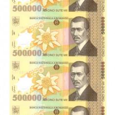 Coala 500.000 500000 lei 2000 BNR cu certificat autenticitate CEL MAI MIC PRET! - Bancnota romaneasca