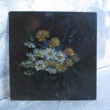 Flori de camp, pictura veche in ulei - Pictor roman, Altul