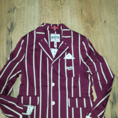 SUPER PRET! Superb sacou SUPERDRY original The Cambridge Blazer Sz S ! - Sacou dama Superdry, Marime: S, Culoare: Burgundy, Bumbac