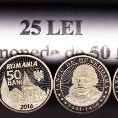 Fisic 50 bucati 50 bani 2016 Iancu de Hunedoara, castelul Corvinilor UNC (1) - Moneda Romania