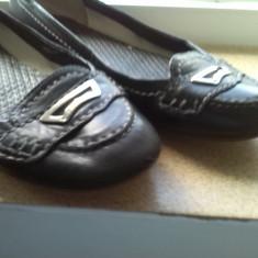 Pantofi balerini piele marime 36 - Balerini dama, Culoare: Negru
