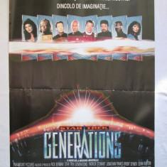 REZERVAT Afis cinema vechi Star Trek Generations, afis film, Star Trek