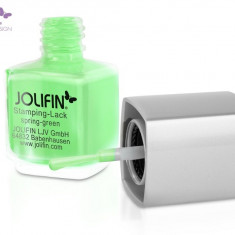 Oja speciala Jolifin pt matrita ce se aplica cu stampila, verde 12 ml - Lac de unghii